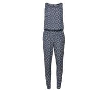 Jumpsuit blau / pastellblau / weiß