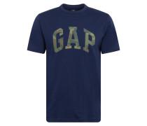 Shirt 'v-Ss Camo Arch Logo Tee' navy