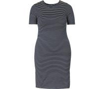 Kleid nachtblau / weiß