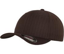 Cap 'Pinstripe' braun / weiß