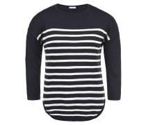 Pullover 'Liese' navy / weiß