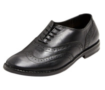 Schuhe 'Klassik Budapester' schwarz