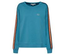 Sweatshirt petrol / dunkelorange