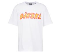 Shirt mit Logo-Applikation rot / weiß