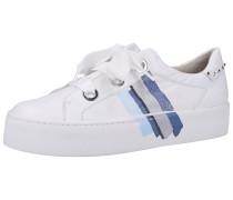 Sneaker weiß / blau / hellblau / grau