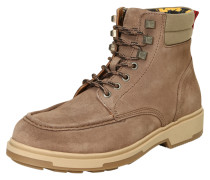 Winter-Boots aus Veloursleder sand