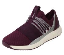 Sneaker hellgrau / merlot