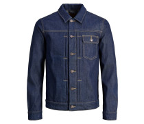 Jeansjacke blue denim / gelb