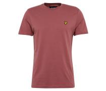 T-Shirt mit Marken-Badge rostrot