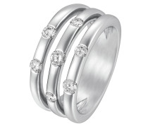 Ring 'Diamonds' silber