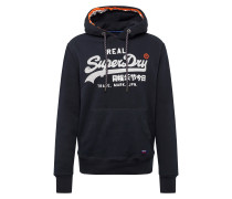 Sweatshirt 'vintage Racer' navy / weiß
