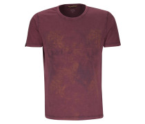 T-Shirt kupfer / dunkelrot