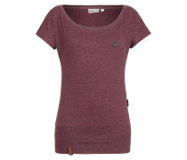 T-Shirt 'Wolle' bordeaux