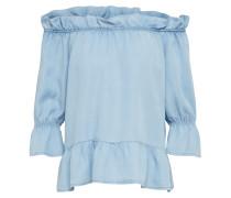 Off-Shoulder Bluse 'vmsia' blue denim