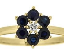 Goldring dunkelblau / gold