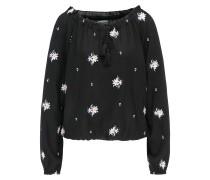 Blusen-Shirt lavendel / schwarz / weiß