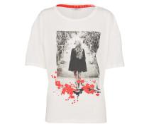 T-Shirt 'melanie' rot / weiß