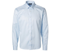 Langarmhemd Slim Fit - blau