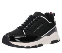Sneaker 'satin' schwarz / offwhite