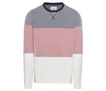 Pullover 'strip struc cn' blau / rot / weiß