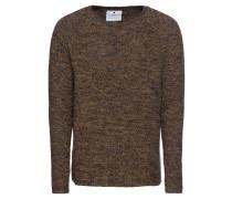 Pullover dunkelblau / braun / gelb