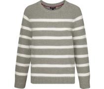 Pullover hellgrau / weiß