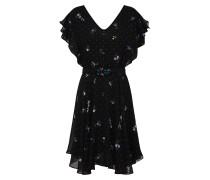 Kleid 'Pepita' lila / schwarz