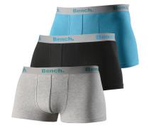 Boxer (3 Stück) hellblau / grau / schwarz