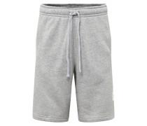 Sweatshorts grau / weiß