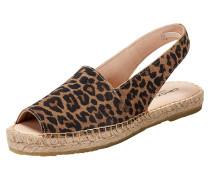 Sandale 'Lisa' braun / dunkelbraun