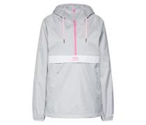 Anorak 'urban' grau / pink / weiß