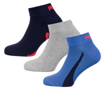 Socken blau / graumeliert / rot / schwarz