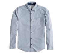 Hemd 'LS Stripe OX HAB 1Cc' blau / weiß
