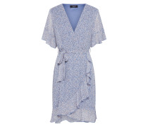 Kleid 'greto-5' creme / camel / blau