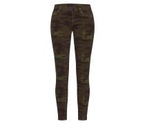 Jeans 'halle Camo' braun / grün