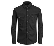 Westernstyle Hemd schwarz