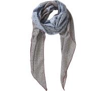 Schal hellblau / schwarz / weiß