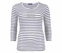 3/4-Arm-Shirt navy / weiß