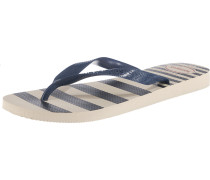 Zehensandalen 'Top Retro' beige / navy