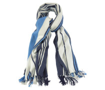 Modeschal marine / royalblau / weiß