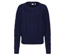 Pullover 'slouchy Cable Crew' nachtblau