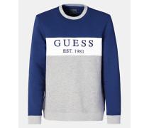 Sweatshirt blau / graumeliert / weiß