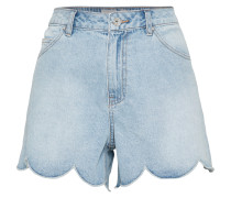 'Scallop Edge' Shorts hellblau