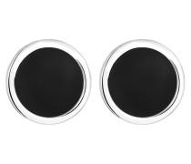 Ohrringe 'Geo' schwarz / silber