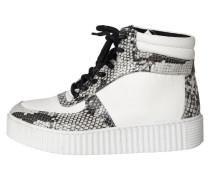 Stiefel grau / weiß