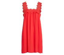 Spitzendetail Kleid ohne Ärmel rot
