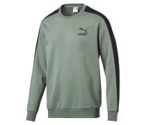 Sweatshirt 't7' pastellgrün / schwarz
