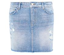 Jeans-Minirock mit Destroys hellblau