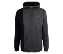Sport-Jacke dunkelgrau / schwarz