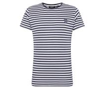 T-Shirt 'Santos' blau / weiß